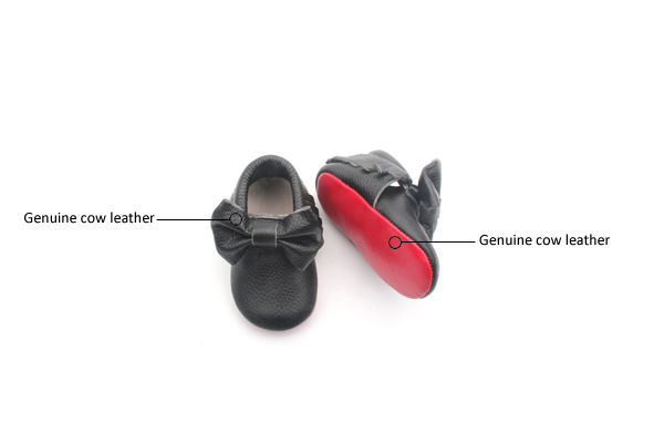 Bow-tie Infant Moccasin Shoes