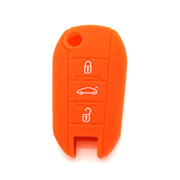 colorful rubber Peugeot 3 car key cover