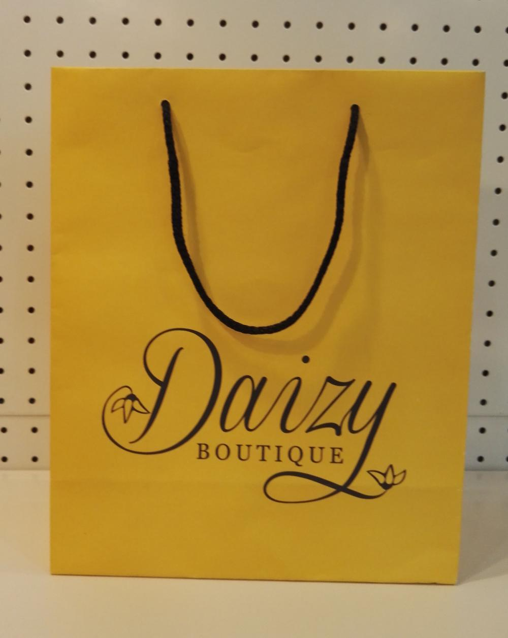Cardboard paper bag rope handle -daizy