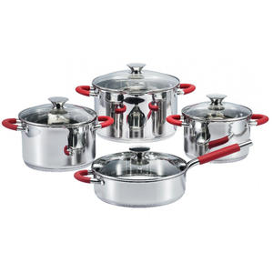 factory low price for Silicone Pot Handle Covers Cookware Set with glass lid stainless steel supply to Poland Factories