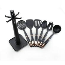20 Years Factory for Nylon Cooking Tools 6 pcs Nylon kitchen utensil set with holder supply to Italy Wholesale