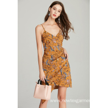 fashion strap womens ladies printed summer dress