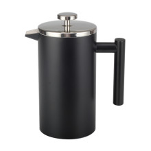 Food Grade Stainless Steel Double Wall BlackFrench Press