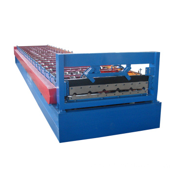Russia popular profile roof panel double layer roll forming machine