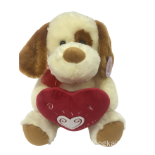 Plush Dog Holding Heart