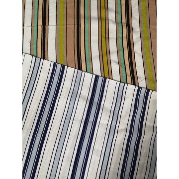 Stripe Rayon Poplin Air-jet 45s Printing Fabric