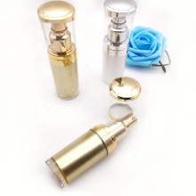 Golden Acrylic Vacuum Cosmetic Liquid Spray Bottle