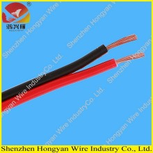 Leading for Single Core PVC Electrical Cable 2 cores flat black and red speaker wire electrical wire supply to Mayotte Factory