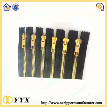 Gold Plated Close End Metal Zipper