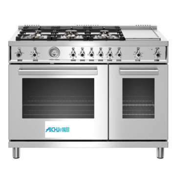 48 All-Gas Range 6 Brass Burner and Griddle