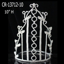 Leading for Pageant Crowns and Tiaras New Fashion Rhinestone Clear Crystal Girl Crowns export to Tanzania Factory
