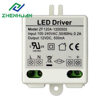 Special Design for Led Transformer 12V 0.5A 6W Constant Voltage Mini LED Driver supply to Argentina Factories