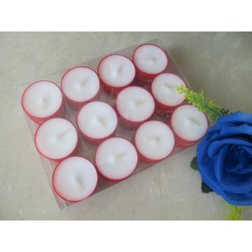Unscented Box Pack Red Cup Tealight Candle
