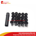 Black Close End Wheel Lug Nut Kit