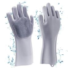 Silicone Gloves with Wash Scrubber
