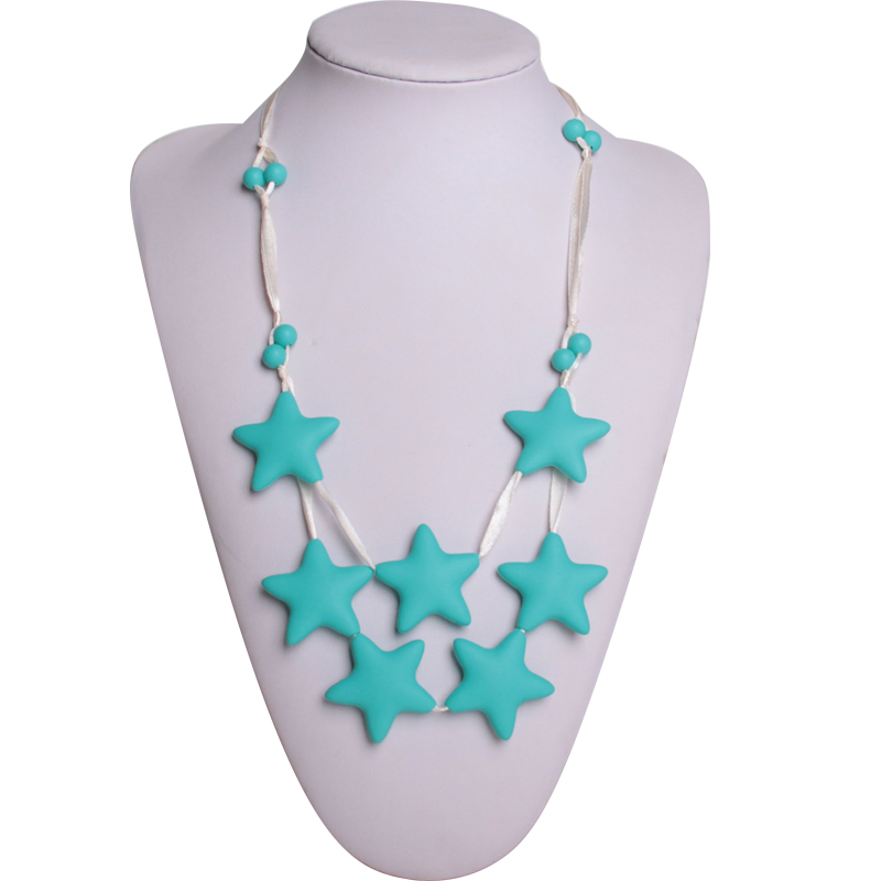 Star silicone baby teething necklace
