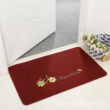 Embroidered washable bathroom and living room mat
