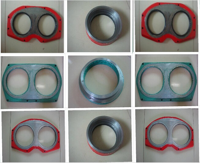 concrete pump rubber wear plate and ring
