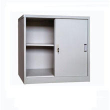 Grey Sliding Door Office Storage Cupboard