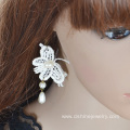 Butterfly Pearl Earrings Lace Long Earrings Wholesale