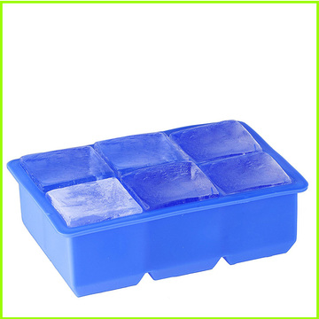 Factory Outlets for 6 Cavity Silicone Ice Cube Trays Shapes,Rubber Round Ice Cube Trays for Sale Wholesale 6-Cavity Flexible Silicone Ice Cube Tray export to Tonga Factory