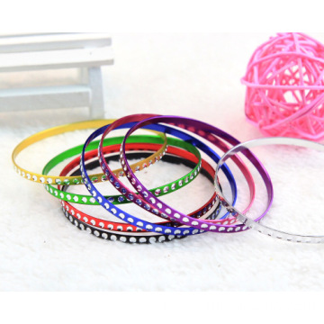 China for Aluminum Bangle , Aluminum Bangle Bracelet , Colorful  Aluminum Bangle supplier of China Colorful Metal Bangle Thin Aluminum Bracelet Bangles export to Libya Factory