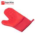 Quilted Cotton Lining Heat Resistant Silicone Oven Mitts