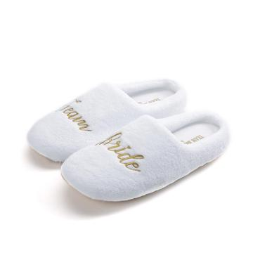 Full wrapped velour softly comfortable thick soled slippers