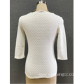 women`s  hollow white sweater