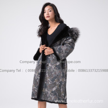 Mink Fur Reversible Women Overcoat