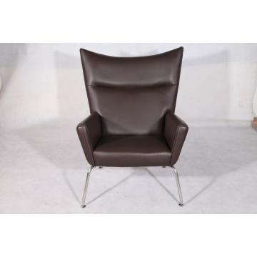 Leather Hans Wegner CH445 Wing Chair Replica