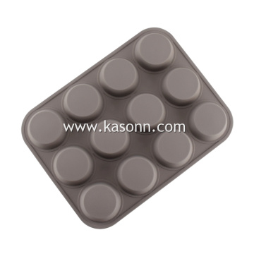 Large Round Silicone Muffin Liners Baking Pan
