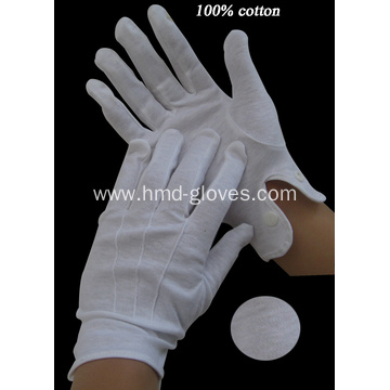 White Uniform Cotton Gloves
