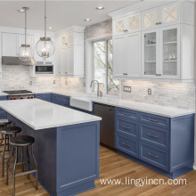 Customized modern shaker modular kitchen cabinets