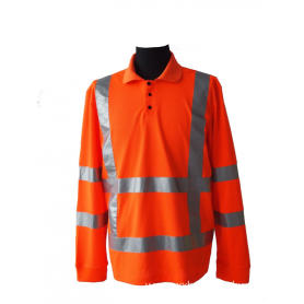 High visibility workwear with alert reflective stripe