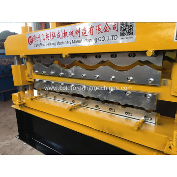 Metal sheet glazed tile metal roof making machine