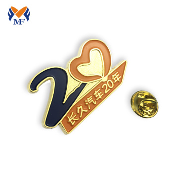Commemorative lapel pin badge for year souvenir