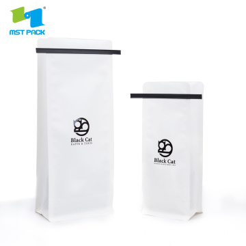 White Paper Coffee Bag with Tin Tie