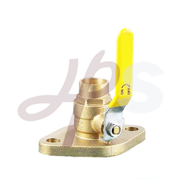 Brass flanged ball valve