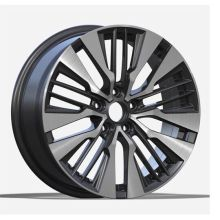 Toyota Replica Rim 18x7.5 Black Machined Face
