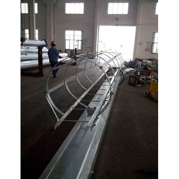 China for Steel Lighting Pole High Mast 18m Flange Joint Lighting Pole supply to Saint Lucia Supplier