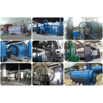 output waste to fuel oil pyrolysis machine
