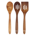 3 pcs of one set wooden cooking utensils