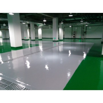 Non-slip high hardness epoxy mortar floor paint