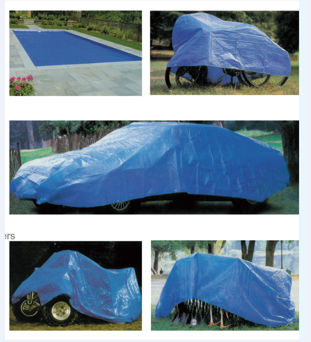 PE tarpaulin usage