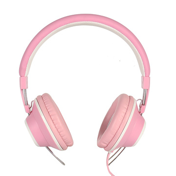 Cute pink Feminine Stereo Bass Sound headphones