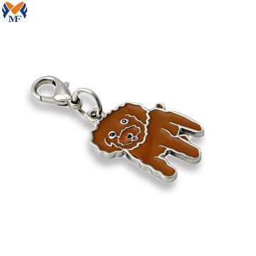 Custom charm keychain with your logo
