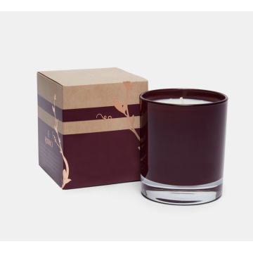 Luxury custom 2 piece cardboard candle packaging box