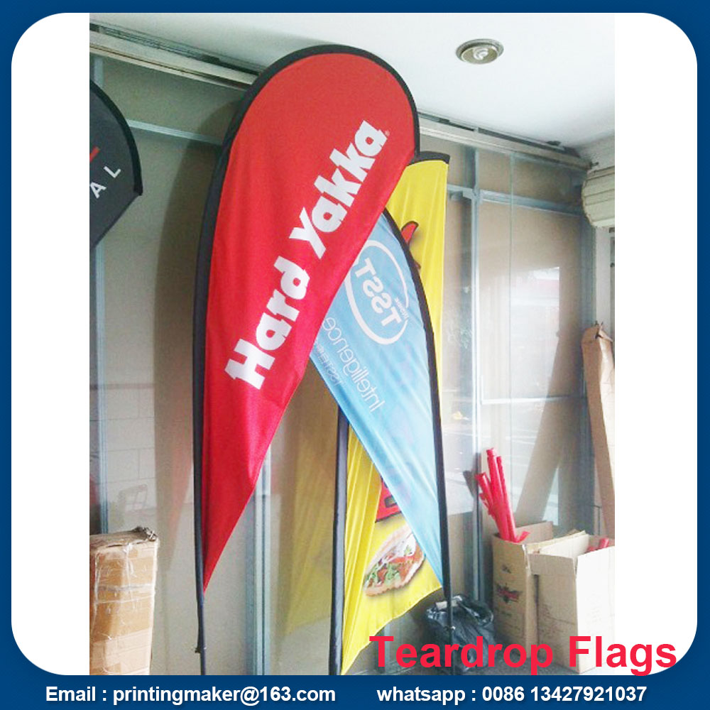 Custom Advertising Flying Teardrop Flags Banners