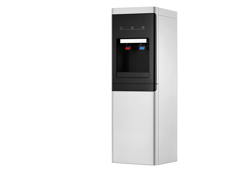 Standing Water Cooler with Refrigerator